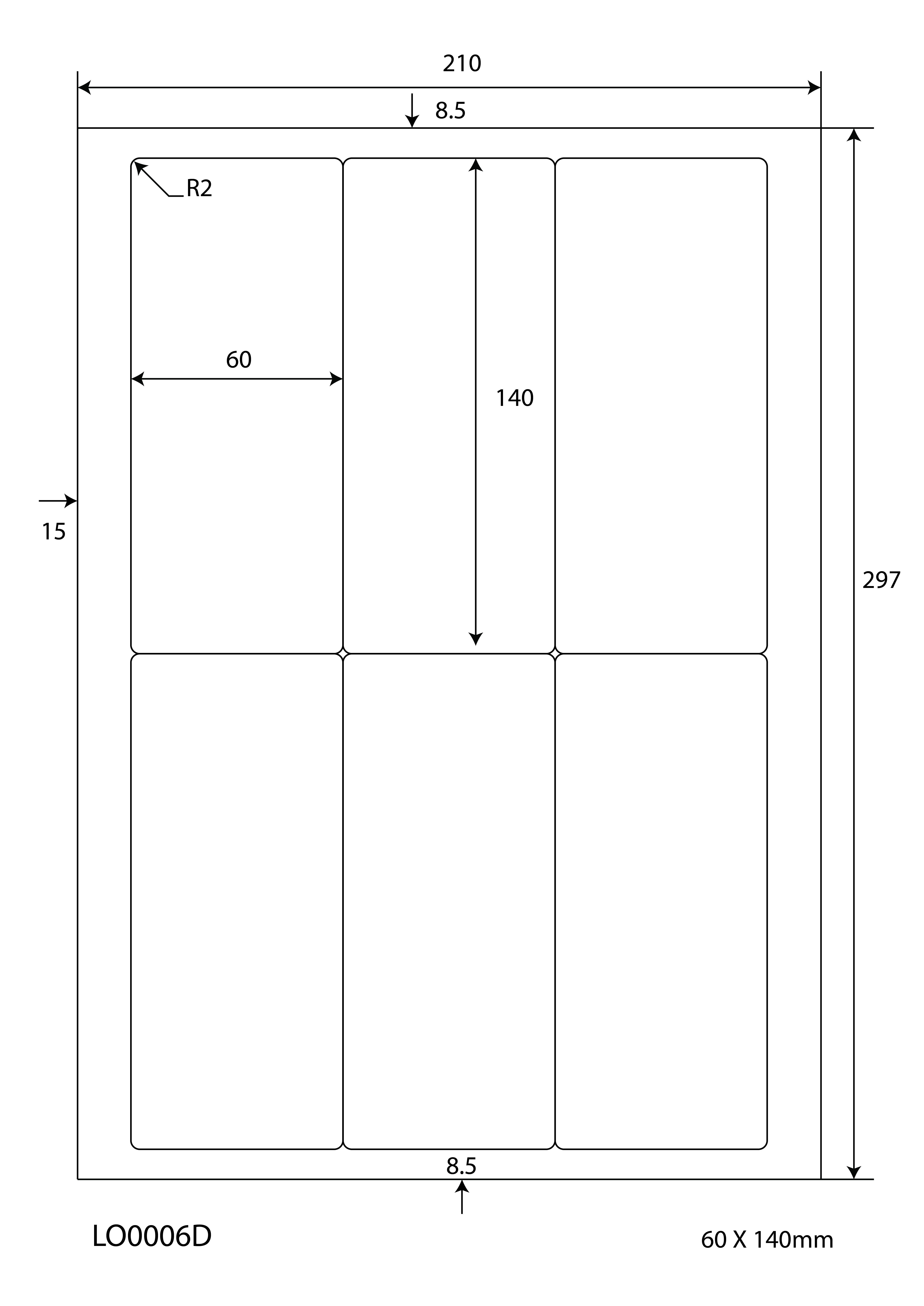 10 Blatt Klebeetiketten DIN A4 weiß 99,1x120mm Laser Inkjet Kopierer