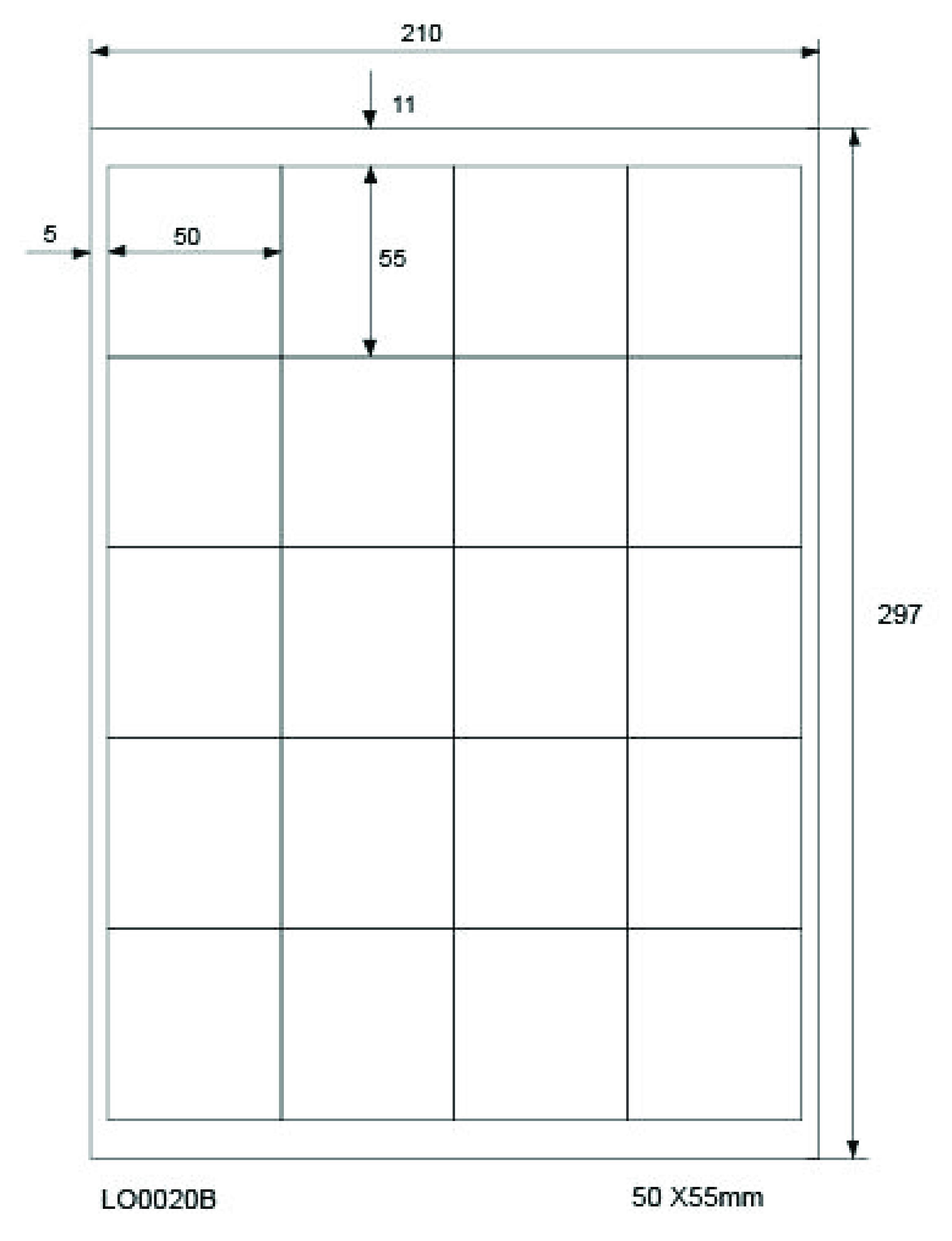 Laser Inkjet Kopierer Klebeetiketten DIN A4 weiß 100x15,5mm 10 Blatt
