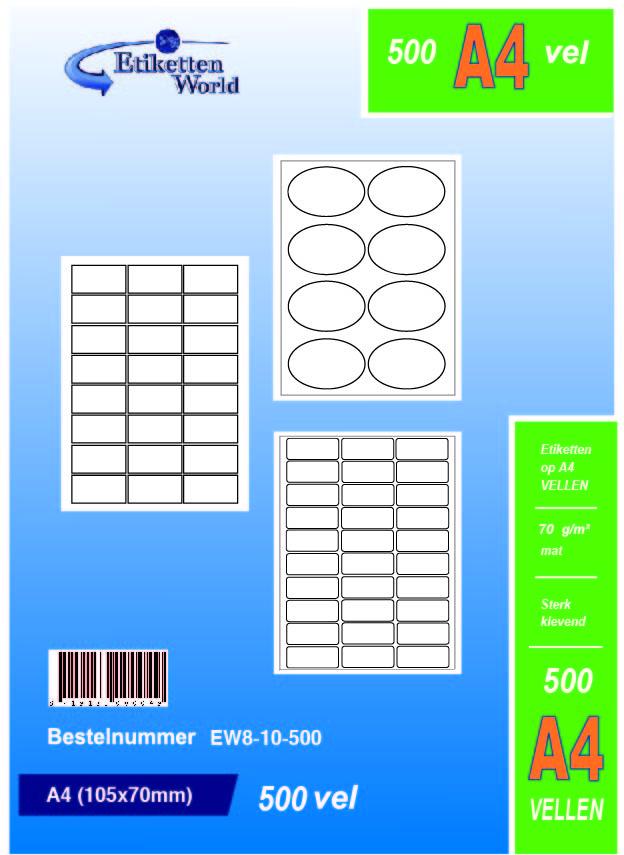 Klebeetiketten DIN A4 weiß 39x138mm 100 Blatt Laser Inkjet Kopierer